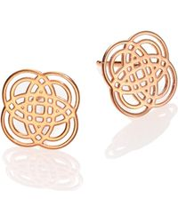 Ginette NY - Purity Gold 18k Rose Gold Stud Earrings - Lyst