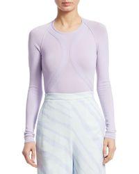 Roberto Cavalli   Long Sleeve Knit Bodysuit   Lyst