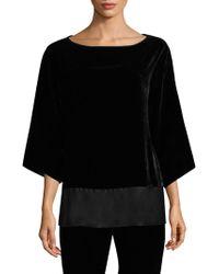 Natori - Pullover Velvet Bell-sleeve Top - Lyst