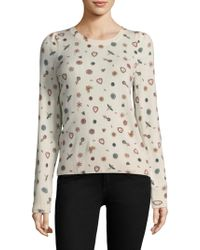 Joie - Abiline Brooch-print Cashmere Jumper - Lyst