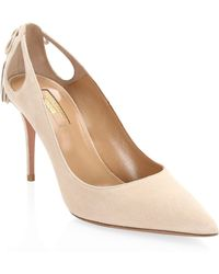Aquazzura - Forever Marilyn Suede Pumps - Lyst