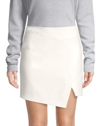 Tibi - Anson Flap-front Mini Skirt - Lyst