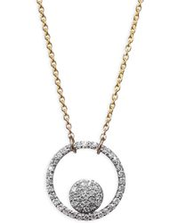 Phillips House - 14k Two Tone Diamond Ring Pendant Necklace - Lyst