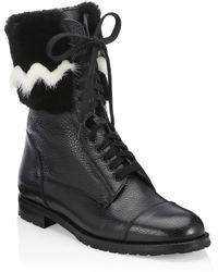 Manolo Blahnik - Campchato Rabbit & Mink Fur Boots - Lyst