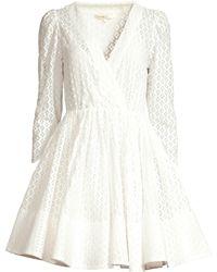 Maje - Women's Ralina Guipure Lace Fit-&-flare Dress - White - Lyst