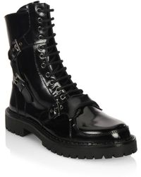 Moschino - Lace-up Leather Boots - Lyst