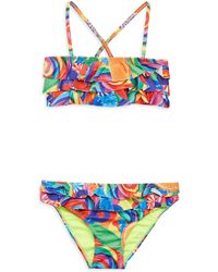 Terez - Little Girl's & Girl's Dylan's Candy Bar Ruffled Bikini - Lyst