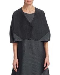 Issey Miyake - Horizon Pleats Long Sleeve Tunic Jacket - Lyst