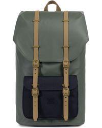 Herschel Supply Co. - Men's Little America Backpack - Beetle Black Gothic Olive - Lyst