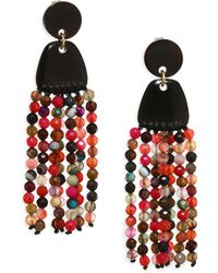 Nest - Agate Tassel Earrings - Lyst