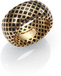 Gucci | Diamantissima 18k Yellow Gold & Enamel Ring | Lyst