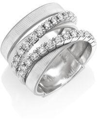 Marco Bicego - Masai Diamond & 18k White Gold Five-strand Ring - Lyst