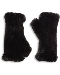 Surell - Mink Fur Fingerless Gloves - Lyst