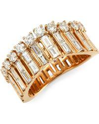 Anita Ko - Diamond & Gold Ava Wave Ring - Lyst