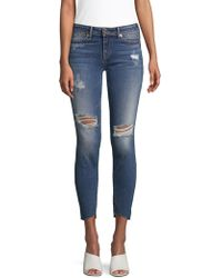 True Religion - Halle Mid-rise Super Skinny Jeans - Lyst