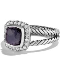 David Yurman - Petite Albion Ring With Diamonds - Lyst