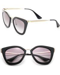 Prada - 52mm Irregular Sunglasses - Lyst