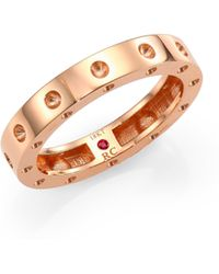 Roberto Coin - Pois Moi 18k Rose Gold Single-row Band Ring - Lyst