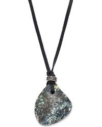 King Baby Studio - Turquoise, Leather & Sterling Silver Necklace - Lyst