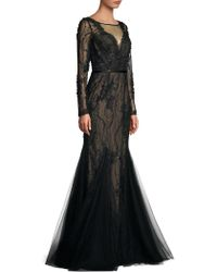 Basix Black Label - Lace Tulle Mermaid Gown - Lyst