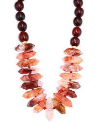 Nest - Horn & Quartz Short Necklace - Lyst