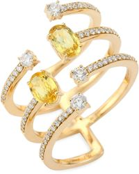 Hueb - Spectrum Diamond, Yellow Sapphire & 18k Yellow Gold Ring - Lyst