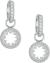 Jude Frances - Diamond & 18k White Gold Kite Earring Charms - Lyst