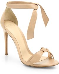 Alexandre Birman - Clarita Leather Ankle-tie Sandals - Lyst
