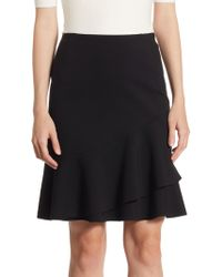 Akris Punto - Tiered Jersey Skirt - Lyst