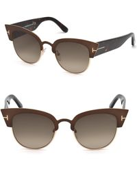244dfe38d3 Tom Ford - Alexandra Semi-rimless Cat Eye Sunglasses - Lyst