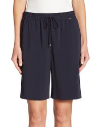 St. John - Stretch Drawstring Shorts - Lyst