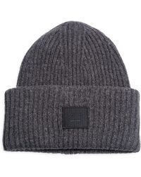 Acne Studios - Pansy L Ribbed Wool Beanie - Lyst