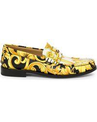 d068ad21e7d Lyst - Prada Vitello Leather Dress Loafer in Brown for Men