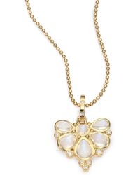 Temple St. Clair - Royal Blue Moonstone, Diamond & 18k Yellow Gold Fan Pendant - Lyst