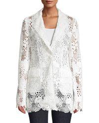 Elie Tahari - Wendy Floral Lace Jacket - Lyst