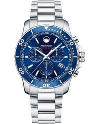 Movado - Series 800 Stainless Steel Bracelet Watch - Lyst