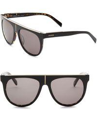 Balmain - Flat Top 55mm Aviator Sunglasses - Lyst