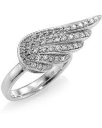Sydney Evan - Angel Wing Diamond Ring - Lyst