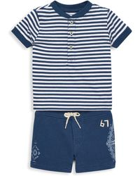 Ralph Lauren - Baby Boy's Two-piece Cotton Shirt & Shorts Set - Lyst