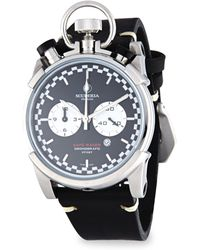 CT Scuderia - Corsa Cafe Racer Stainless Steel & Leather Strap Watch - Lyst