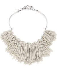 Lele Sadoughi - Weeping Willow Beaded Strands Necklace - Lyst