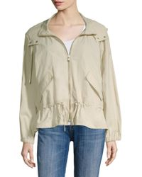 Donna Karan - Hooded Long-sleeve Full-zip Jacket - Lyst