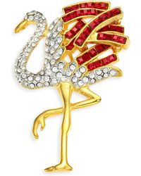 Kenneth Jay Lane - Stone Embellished Pin - Lyst