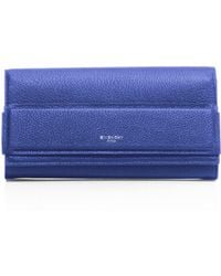 Givenchy | Horizon Long Leather Flap Wallet | Lyst