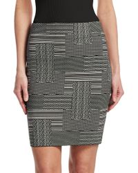Akris Punto - Patchwork Jacquard Pencil Skirt - Lyst