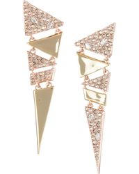 Alexis Bittar | 10k Gold Crystal Triangle Earrings | Lyst