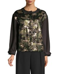 Donna Karan - Sequin Camo Jacket - Lyst