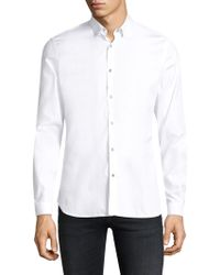 The Kooples - Cotton Button-front Shirt - Lyst