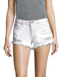 Joe's Jeans - Distressed Cutoff Shorts - Lyst