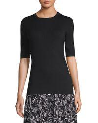 Lafayette 148 New York | Skinny Ribbed Silk Sweater | Lyst